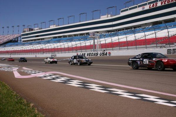 Leadfoots turn a Reverse Lap at Las Vegas Super Speedway to honor our fallen military heros