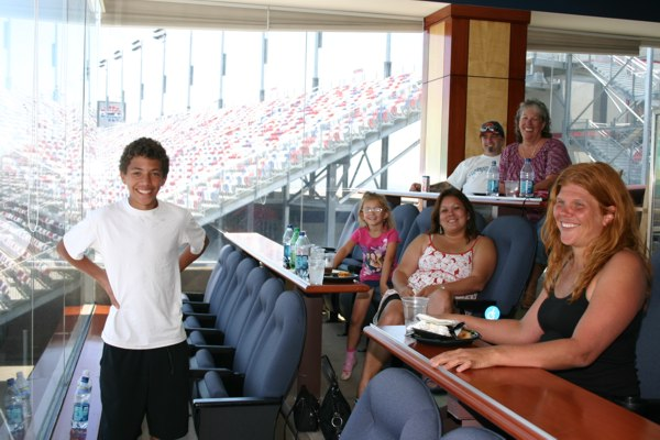Closing Ceremony fun in the LVMS owner's skybox