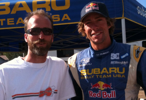 Bret 'The Godfather' Hunter and extreme sports legend, Travis Pastrana